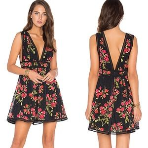 NBD ISAAC DRESS IN RED FLORAL PRINT